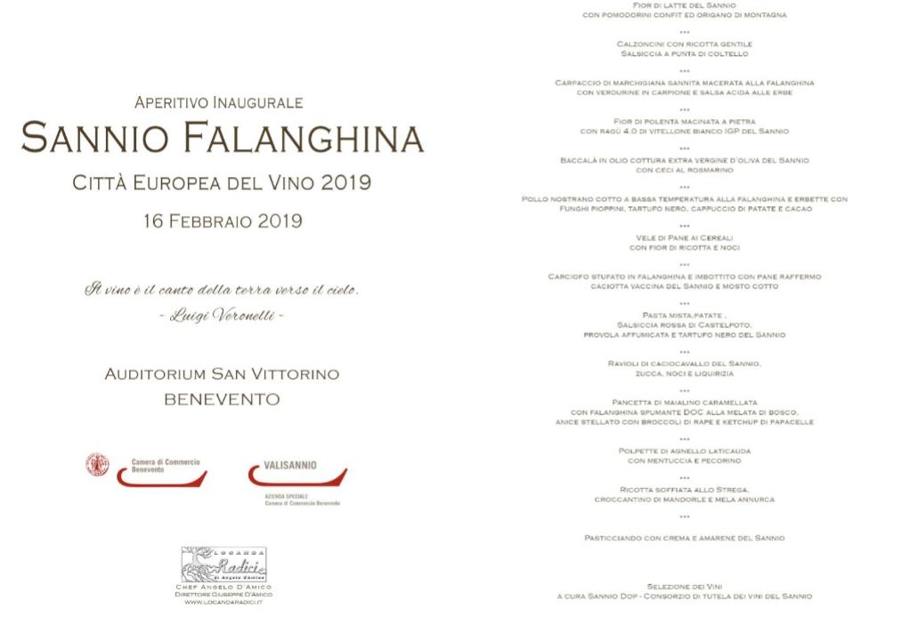 L'aperitivo inaugurale di Sannio Falanghina