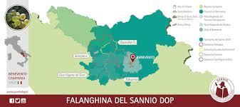 Mappa della Falanghina del Sannio